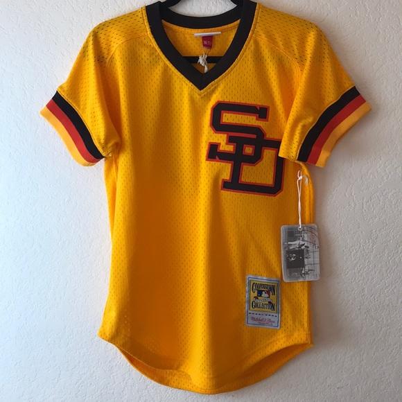 quality design ad762 e0489 San Diego Padres Retro #19 Gwynn Jersey Size 36 S NWT